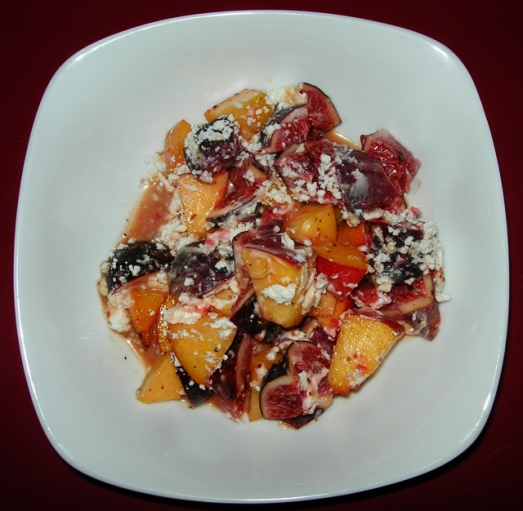 Fruit with Chevre Salad with Sumac dressing